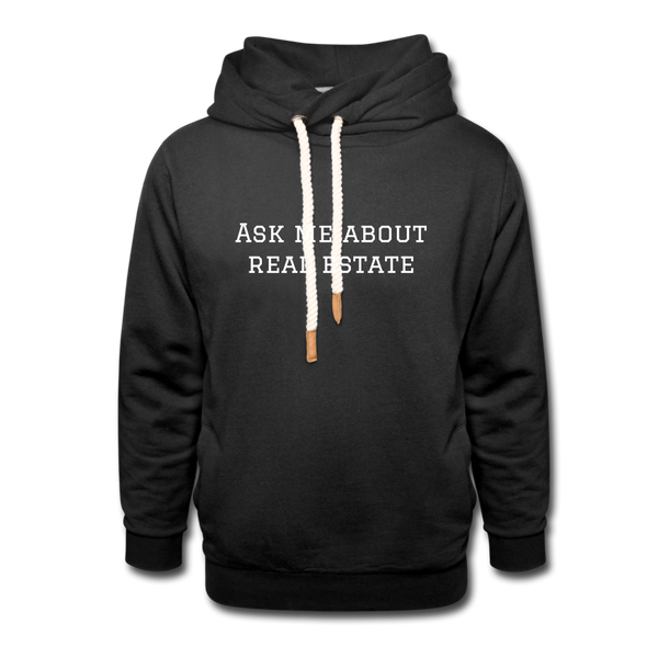 ASK ME ABOUT REAL ESTATE - UNISEX HOODIE - black