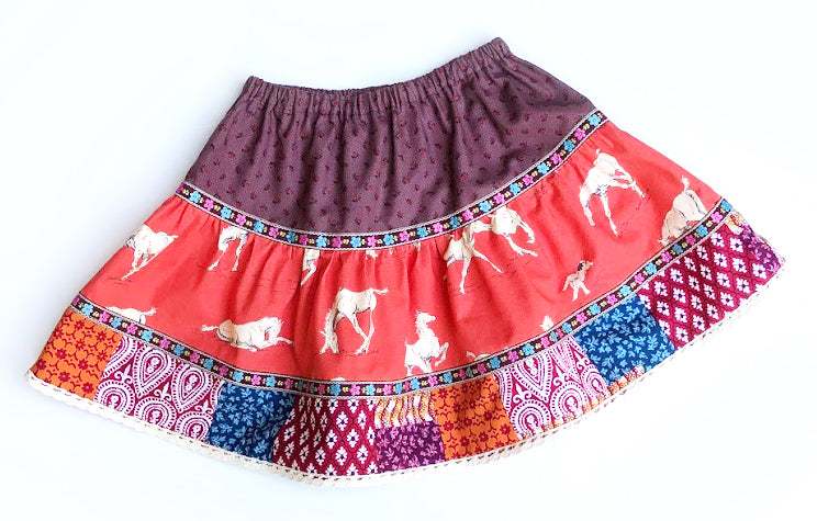Pony Patchwork Skirt