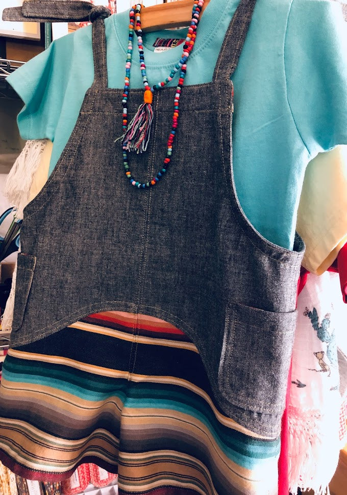 Chambray and Serape Romper