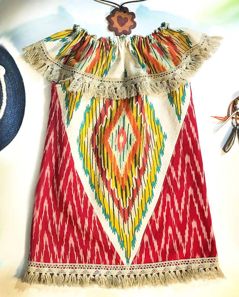 Ikat and Fringe Dress