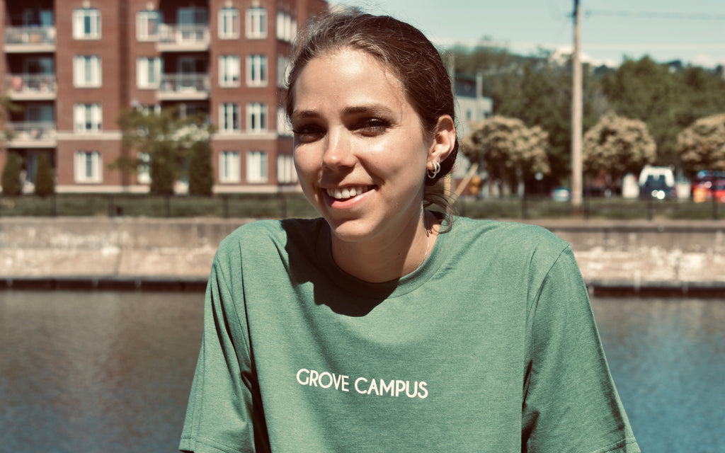 Clare O'Donnell, yoga teacher for Grove Campus pay-what-you-can classes