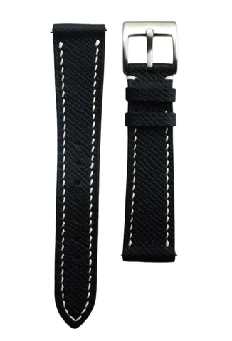 Black Epsom Calf Leather Strap
