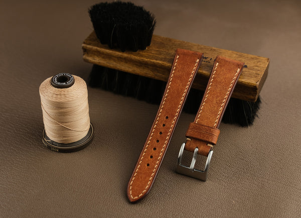 Cognac Pueblo Leather Strap