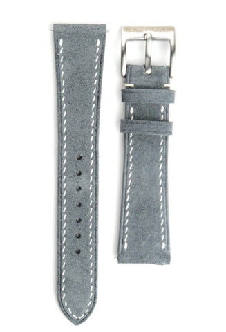 Cool Grey Suede Leather Strap