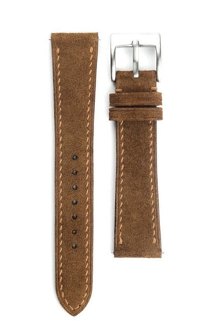 Brown Full Stitch Suede Strap