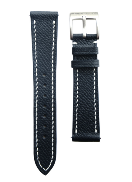 Navy Epsom Calf Leather Strap