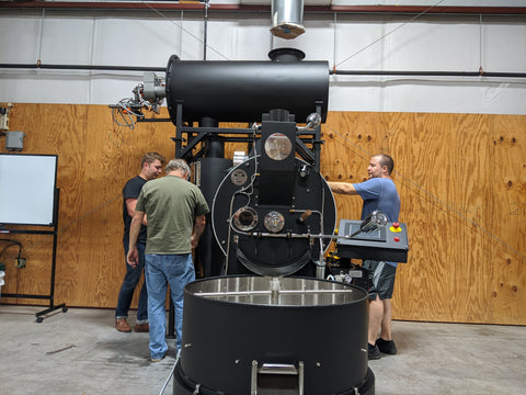 Setting up the full size roaster