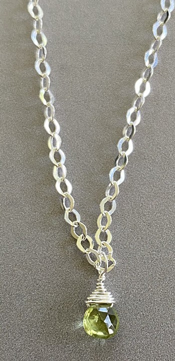 Peridot (August) necklace