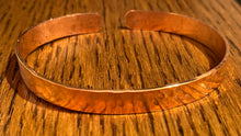 Load image into Gallery viewer, Stamped copper cuff bracelet