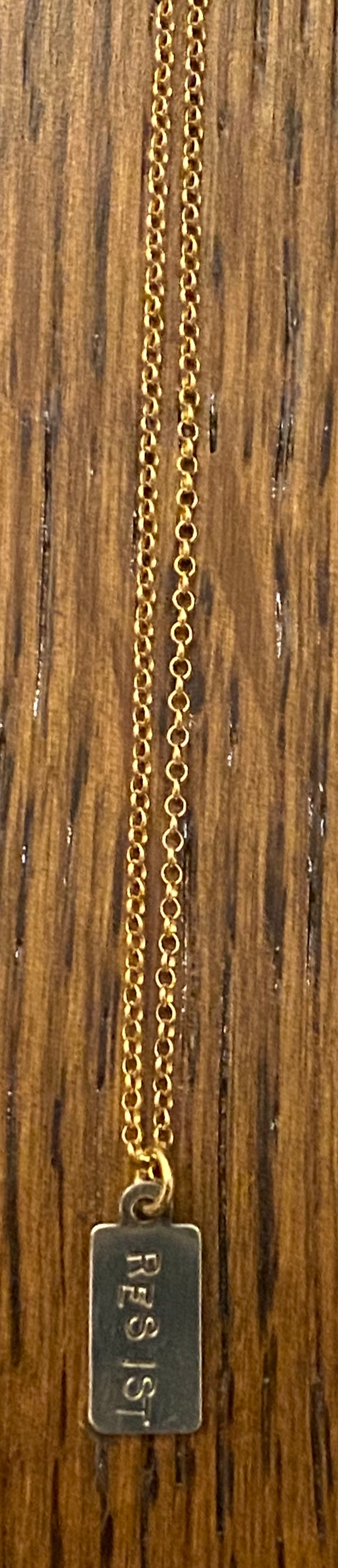 Stamped resist necklace