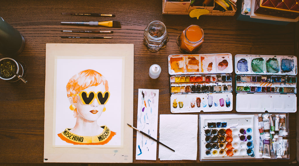 How to organize before painting, blog post by Vallverdu-design. Graphic resources for fashion designers and fashion illustrators