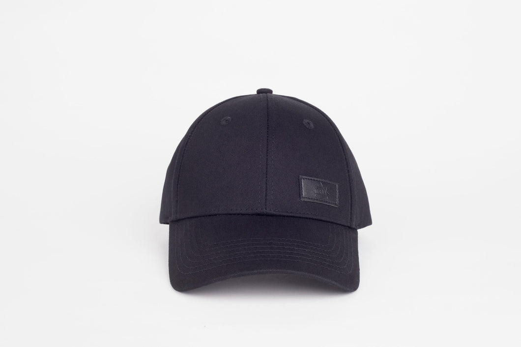 black Full satin lined Baseball Cap for curly hair