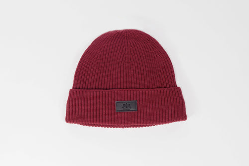 Ruby red Satin lined winter hat slap