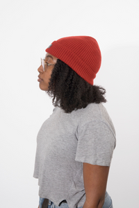 Absolute Burnt Orange Satin Lined Beanie