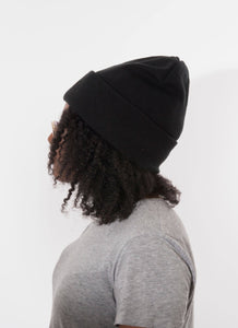 Satin Lined black hat for locs and lots of hair silk slap uk