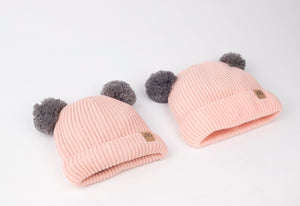 Mummy and Me Blush Pink Pom Pom