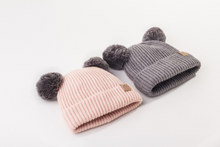 Load image into Gallery viewer, Mummy and Me Blush Pink Pom Pom Beanies
