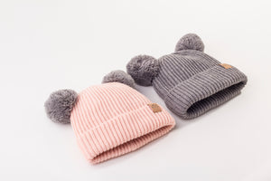 Mummy and Me Mix and Match Pom Pom Beanies