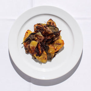 Potatoes and Radicchio al forno