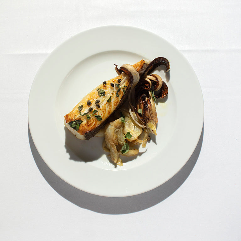 Turbot with Radicchio di Treviso and Fennel