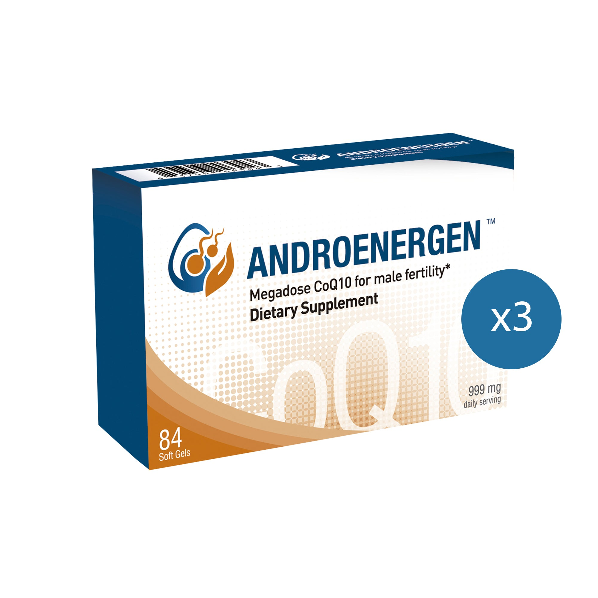 ANDROENERGEN™ CoQ10 for Men, 3-Pack