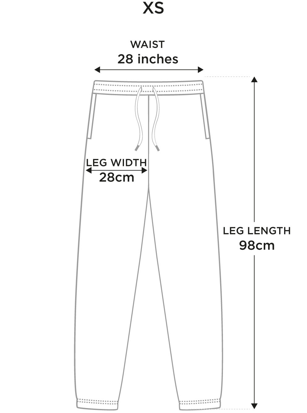Size guide xs
