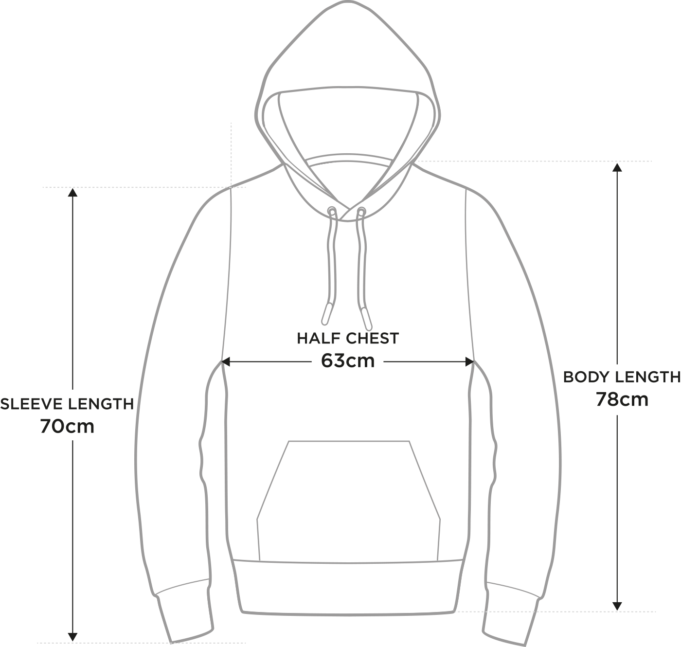 Size guide xxl