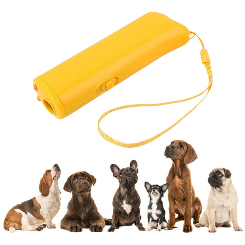 Pet Dog Repeller Anti Barking Stop Bark Training Device Trainer LED