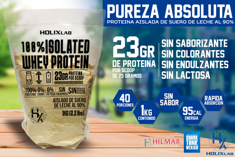 Isolated Whey Protein 100% - 23gr PROTEINA PURA