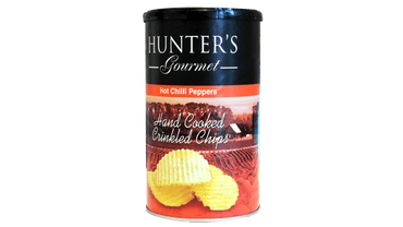 CRINKLED CHIPS HOT CHILI CANISTER