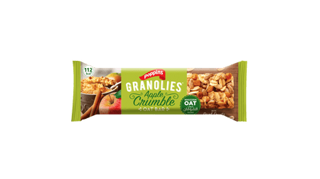 GRANOLIES OAT BAR APPLE CRUMBLE