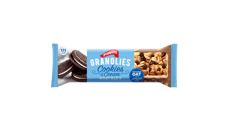GRANOLIES OAT BAR COOKIES AND CREAM
