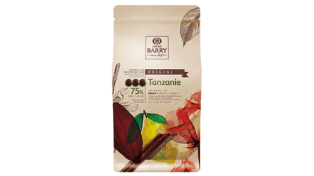 BARRY TANZANIE DARK CHOCO COUVERTURE 75% CACAO