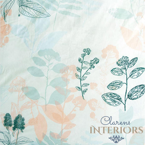Botanica Blue/Peach Floral Duvet Set Clarens Interiors Bed Linen