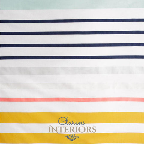 Cuba Stripe Yellow/Blue Duvet Set Clarens Interiors Bed Linen