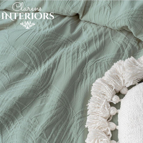 Angelika Duvet Cover Blue Clarens Interiors Bed Linen