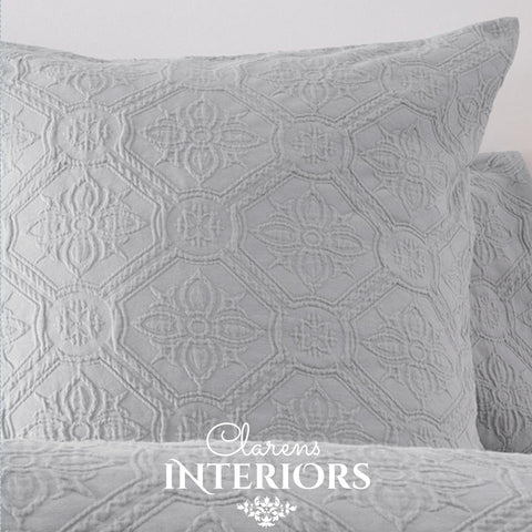Arabella Grey Embroidered Duvet Set Clarens Interiors Bed Linen