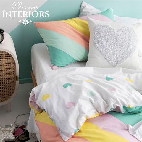 I'm with the band Rainbow Colours Duvet Set Clarens Interiors Bed Linen