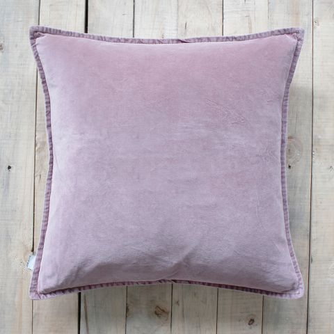 DUSTY ROSE STONEWASHED VELVET CUSHION