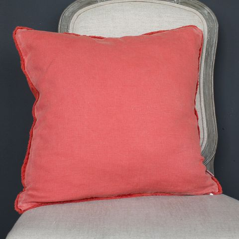 RUST BRUSH FRENCH BORDER CUSHION