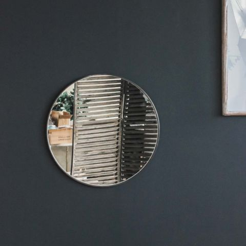 CIRUS ROUND THIN METAL MIRROR