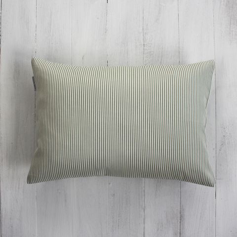 TINY STRIPE SAGE CUSHION
