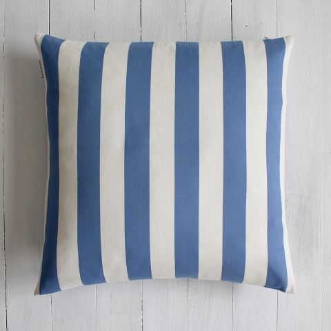 AWNING LARGE BLUE STRIPE CUSHION