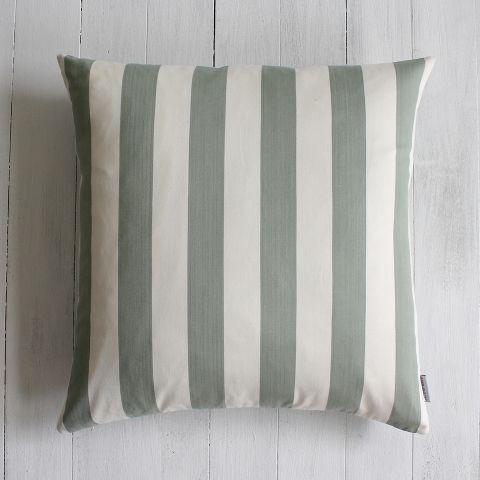 AWNING LARGE SAGE STRIPE CUSHION