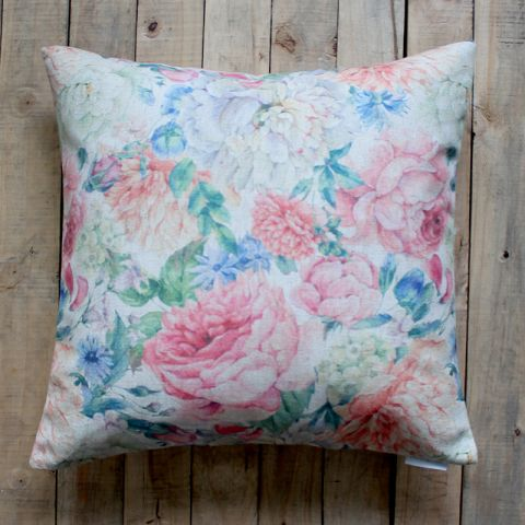 WATER FLORAL CUSHION