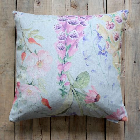 FOXGLOVE CUSHION - BLUE TINTED