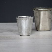 Tiny silver flower pot