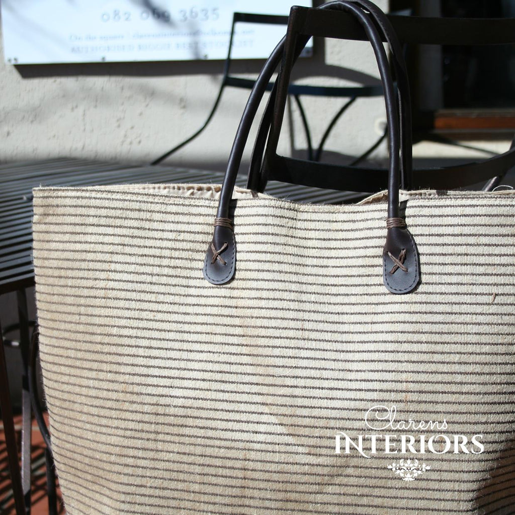 Brown Tote bag with leather handles