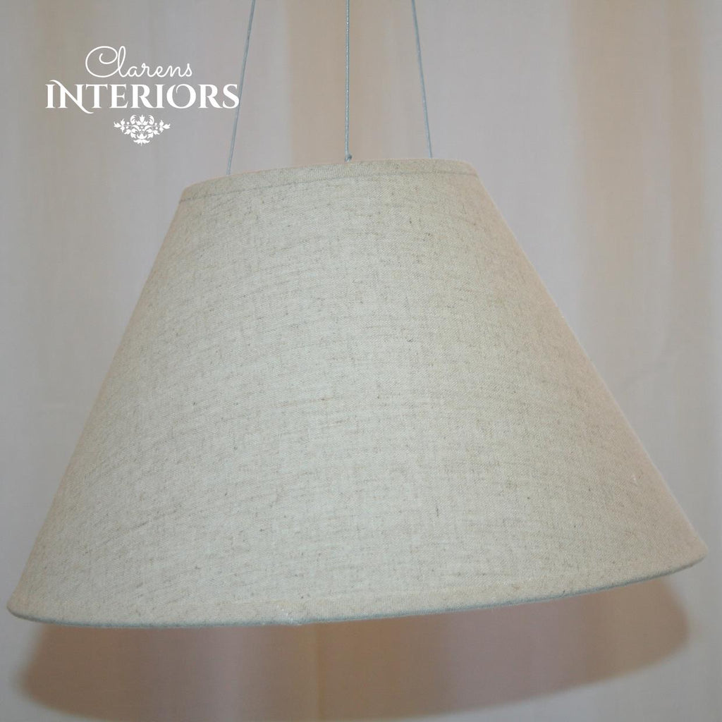 Linen Cone Lamp shade