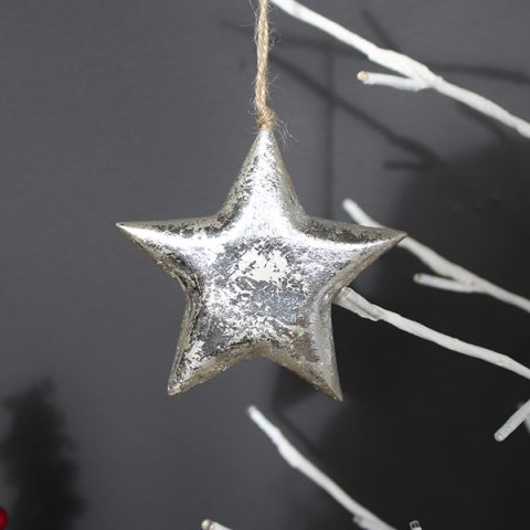 SMALL SILVER STAR HANGER